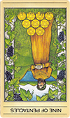 Nine of Pentacles (Inverted)
